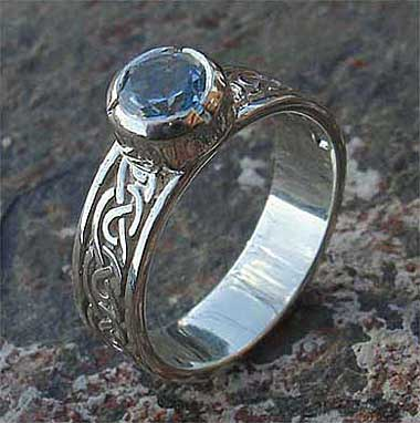 Scottish sterling silver engagement ring