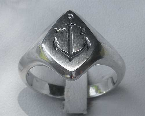 Ships Anchor Silver Signet Ring