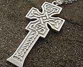 Silver Celtic cross necklace