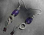 Celtic silver heart earrings