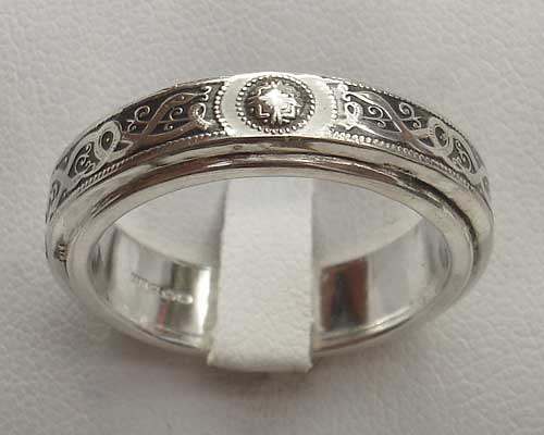 Silver Celtic Wedding Ring