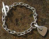 Silver chain bracelet for women