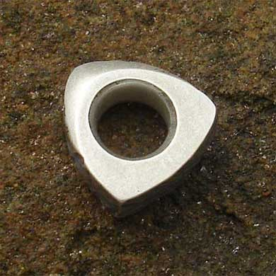 Silver charm bead made in Britain