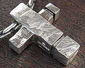 Men's silver cross necklace