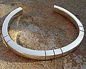 Silver designer bracelet for men
