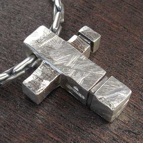 Silver Cross Necklace For Men