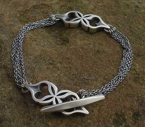 Womens Unique Sterling Silver Bracelet