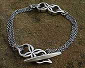 Unique sterling silver bracelet