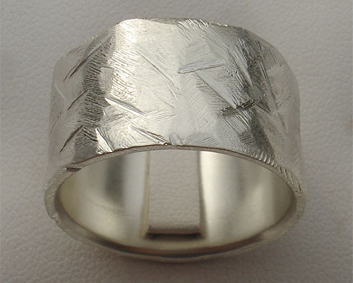 Mens Wide Sterling Silver Ring