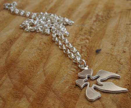 Silver flower pendant for women