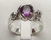 Silver Gothic engagement ring