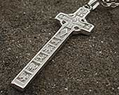 Irish Celtic cross necklace