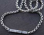 Silver mens chain necklace