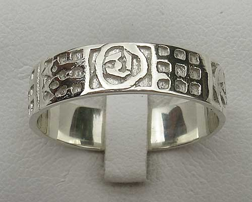 A Scottish Celtic wedding ring for men handmade from sterling silver