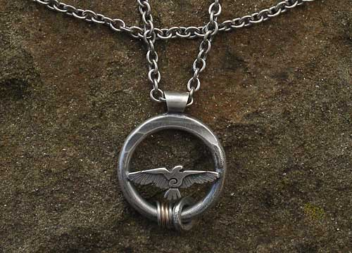 Raven Silver Necklace For Men