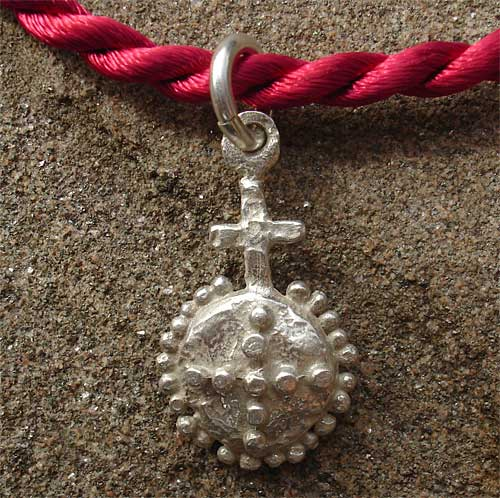 Silver orb charm necklace