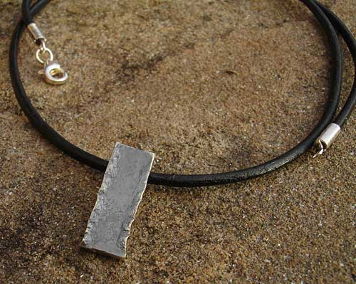 womens oxidised silver necklace