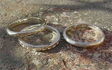 Silver Scottish Celtic rings