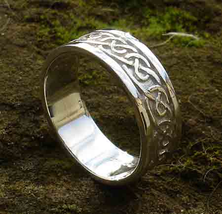 Scottish silver Celtic ring