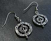 Silver Viking earrings