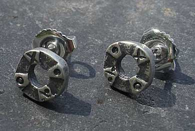 Silver Viking stud earrings