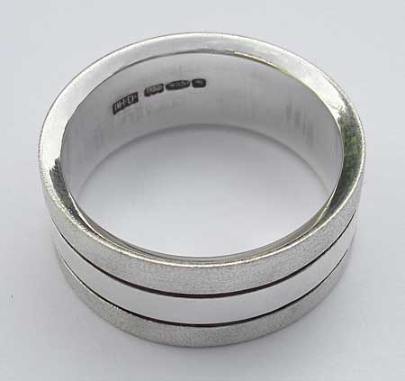 Silver wedding ring for men