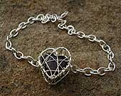 Heart shaped designer bracelet