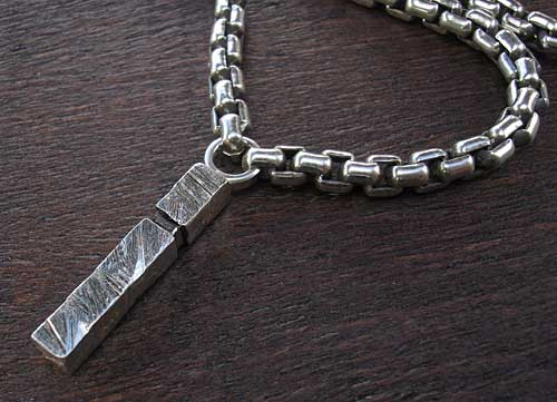 Mens Silver Chain Necklace & Pendant