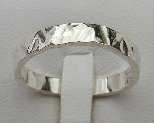 Womens Silver Contemporary Ring