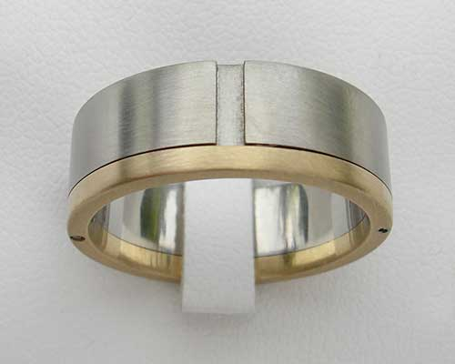 Gold Amp Stainless Steel Mens Wedding Ring LOVE2HAVE In The UK