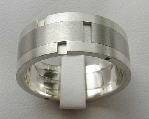 Size S Mens Steel Wedding Ring