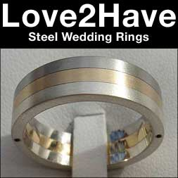 steel wedding rings