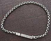 Sterling silver chain bracelet for men