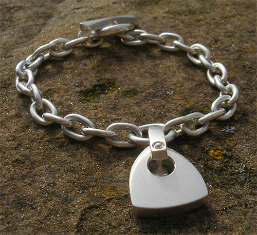 Sterling silver chain bracelet for women