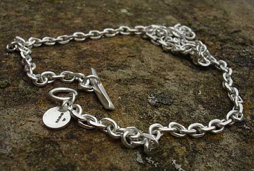 Sterling silver chain necklace for men