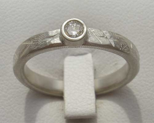 Sterling Silver Designer Engagement Ring