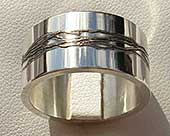 Sterling silver designer ring