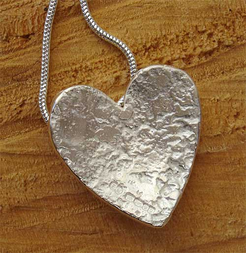 Womens Sterling Silver Heart Pendant