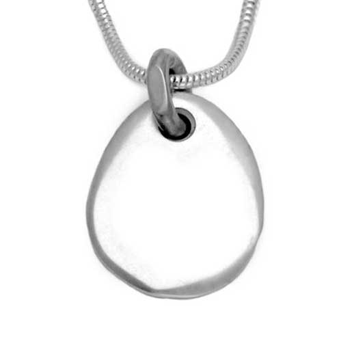Stone shape silver necklace