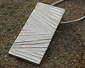 Textured silver necklace for women