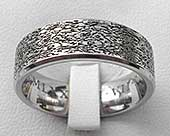 Titanium ring with a contemporary textured surface