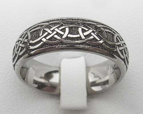 Men S Modern Titanium Celtic Wedding Ring Love2have In