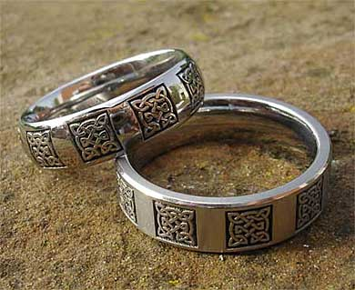 Titanium Celtic rings