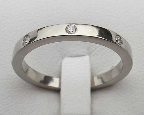 Womens Titanium Diamond Eternity Ring