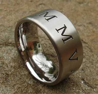 Personalised titanium ring