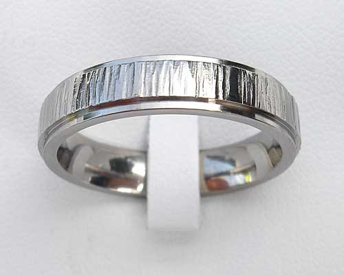 Textured Titanium Wedding Ring