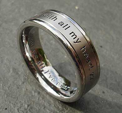 Personalised outer titanium ring