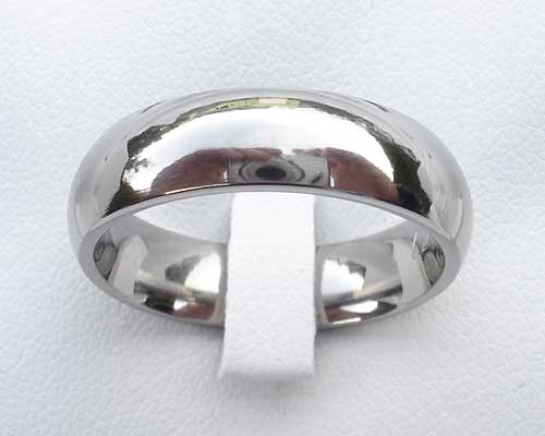 Domed Titanium Wedding Ring