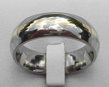 Titanium wedding ring
