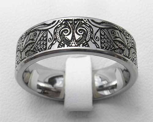 Aztec Mayan Tribal Titanium Ring Love2have In The Uk